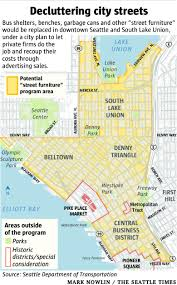 Seattle Crime Map by Seattle Plans To Declutter Street Furniture With Private Help