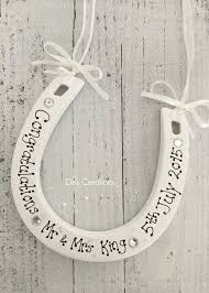 horseshoe wedding gift personalised ceramic lucky horseshoe wedding gift 10 00