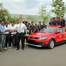 volkswagen fire pune students build an eco friendly fire fighting car from scrap