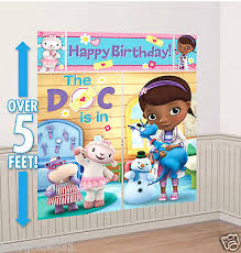 Doc McStuffins Party Room Decor collection on eBay