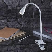 le de bureau à pince le de bureau led intégrée à pince blanc led gao inspire leroy