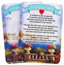 christian mothers day gifts s mission s day wallet cards