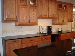 dark brown wooden cabinet glass window backsplash ideas kitchen