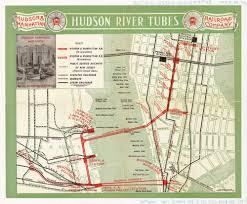 Hudson River Map Historical Map Hudson River Tubes 1909 Transit Maps