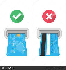 how to insert credit card in atm stock vector sonik 140658150