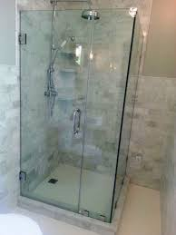 shower with glass doors bathroom gorgeous apartment bathroom with framelesss glass shower