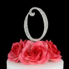 letter wedding cake toppers letter o cake topper monogram 5 inch silver rhinestone