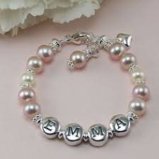 baby bracelets personalized pearl name bracelets personalized for newborn baby from