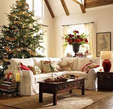 living room country christmas living room with white fireplace