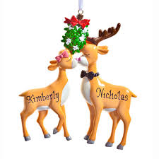 personalized reindeer ornament kimball
