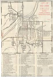 Canadian Pacific Railway Map The City Of Red Deer Alberta 1957