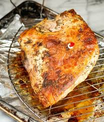 easy herb roasted turkey breast garnish with lemon