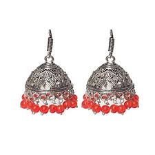 Buy Tribal German Silver Jhumka Buy Shiv Kutumb Ethnic German Silver Jhumka For Women Online