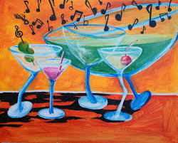 martini painting acrylic soiree welcome to acrylic soiree acrylic soiree