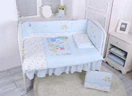 Blue Crib Bedding Set Lucky Baby Bambu 5 Pcs Crib Bedding Set Blue