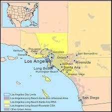 Map Of Los Angeles Metropolitan Area by Megalopolis Of Southern California U2013 Jesust865