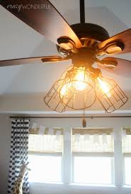 Caged Ceiling Fan With Light Diy Cage Light Ceiling Fan Crazy Wonderful