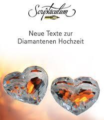 diamantene hochzeit sprüche scriptaculum
