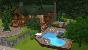 mod the sims lindsey u0027s log mansion