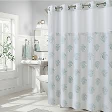 Stripe Shower Curtains Hookless Coral Reef And Cabana Stripe Shower Curtains Bed Bath