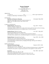 Sample Resume For Pediatric Nurse by Resume For Cook Resume For Your Job Application