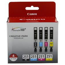 canon cli 251 6513b004 black color 4 pack ink meijer com