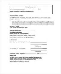 employee vacation request form template download example good resume