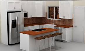 small lacquered in white kitchen design from ikea with ikea