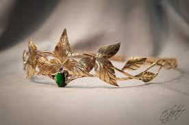 elven diadem elf leaf crown wedding tiara bridal headband