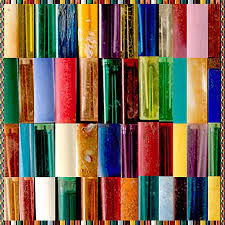 hand crafted color shades patterns textures graphic digital art