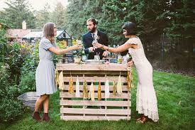 Pallet Wedding Decor Bohemian Chic Backyard Garden Wedding Vintage Wedding Storyboard