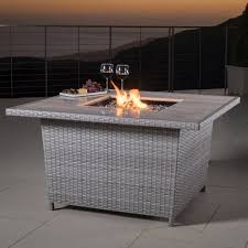 Threshold Patio Furniture Covers - alderbrook faux wood fire table