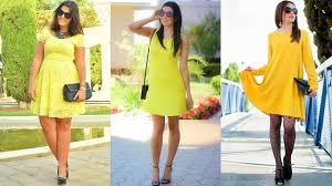 los mejores vestidos amarillo para estar a la moda 2018 la mejor
