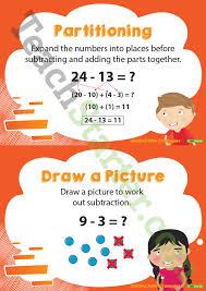 subtraction strategies posters teaching resource u2013 teach starter
