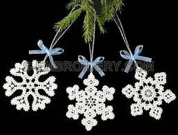 battenburg lace snowflake ornaments machine embroidery set sku10490