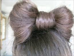 in hair bow how to the hair bow bun