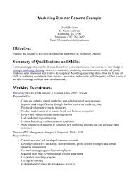 Sample Resume Objectives For Marketing Job by Marketing Objectives Examples Resume Free Resume Example And