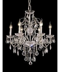 Crystal Chandelier Band Elegant Lighting 2015d24 St Francis 24 Inch Wide 6 Light