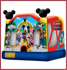 mickey mouse clubhouse bounce house 4 in 1 mickey mouse and friends combo combos all jumpers