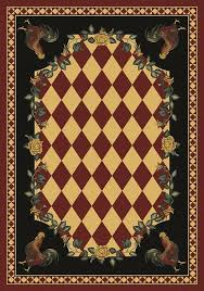 Rooster Runner Rug American Dakota Rug Whimsical Novelty Collection High Country