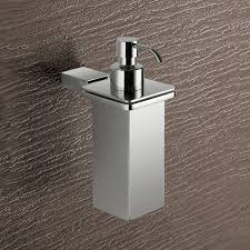 soap dispenser gedy 3881 01 13 wall mounted square polished