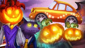 halloween monsters cars for kids halloween cars monster race