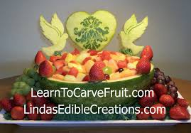 carved bridal fruit carving vegetable carving garnishes and edible arrangements