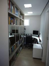 Uma Floor L Home Office Pequeno O Escritó Teve Melhor Aproveitamento De