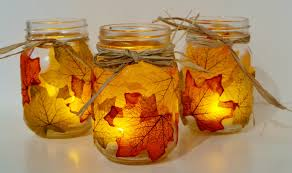 Mason Jar Candle Ideas Autumn Leaf Mason Jar Candle Holder