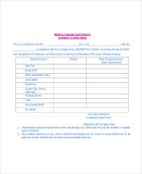 salary receipt template monthly salary certificate templates radiodigital co