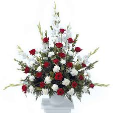 funeral arrangement classic white funeral arrangement