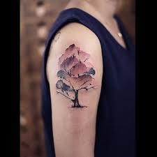 watercolor tree best ideas gallery