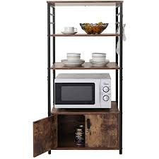 kitchen pantry storage cabinet microwave oven stand with storage iwell kitchen baker s rack with storage cabinet 8 hooks microwave stand with 3 shelves microwave cabinet with storage cupboard sideboard