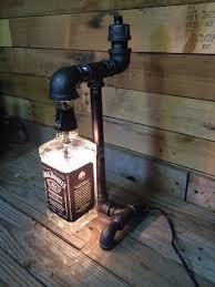 jack daniels liquor bottle black pipe lamp 2 stuff i u0027ve made